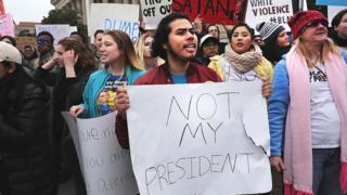 Inauguration protestors