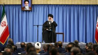 Ayatollah Ali Khamenei addresses military leaders in Tehran. 7 Feb 2017