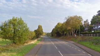 The A465 in Pandy