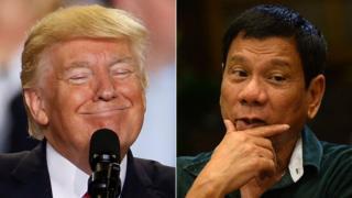 Donald Trump y Rodrigo Duterte.