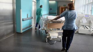 Nurse and hospital porter