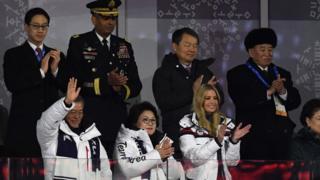 South Korea's President Moon Jae-in (L), his wife Kim Jung-sook (C), US White House adviser Ivanka Trump