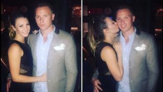 April Oliver with Corrie Mckeague