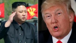 Kim Jong-un and Donald Trump (composite image)