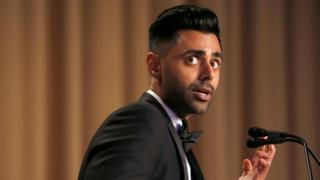 "Hasan Minhaj of Comedy Central performs at the White House Correspondents"" Association dinner in Washington, U.S. April 29, 2017"