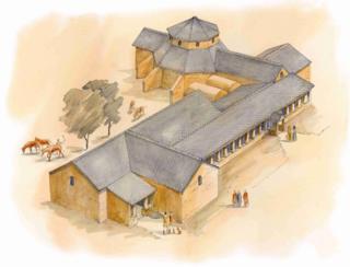 Roman villa at Lufton