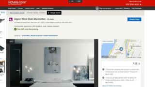Hotels.com listing