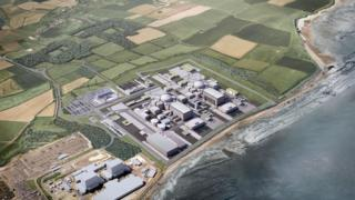 Artists impression of Hinkley Point C