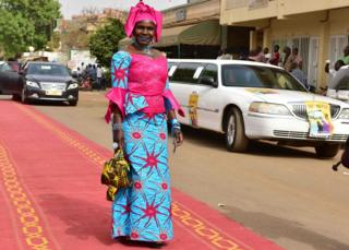 Ivorian actress Naky Sy Savane on the red carpet at Fespaco, Ouagadougou, Burkina Faso - Sunday 26 February 2017
