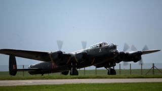 RAF Lancaster bomber - file pic