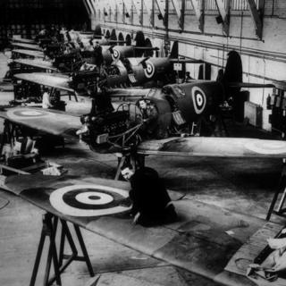 The Spitfire production line at the Vickers Supermarine Works in Southampton
