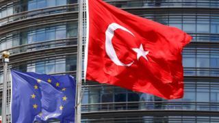 Türkiye-AB bayraklar