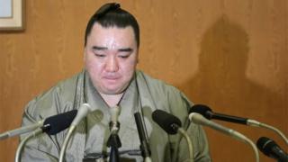 El campeón de sumo japonés Harumafuji.