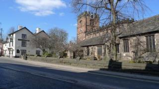 St Mary's Parish Church on High Street, Cheadle