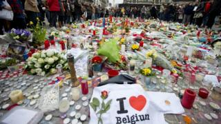 Flowers and candles in Brussels