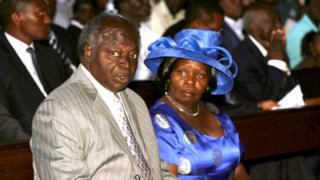 Lucy na Mwai Kibaki