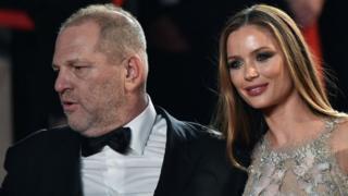 Harvey Weinstein and Georgina Chapman in 2016