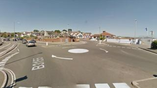 The junction of Preston Beach Road and Bowleaze Coveway in Weymouth