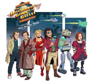 The Hitchhiker's Guide to a Galaxy artwork