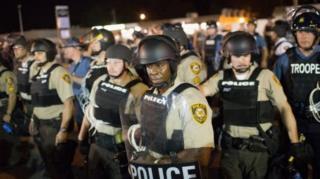 ABD'nin Ferguson kasabasında düzenlenen polis karşıtı bir gösteri
