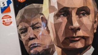 Футболка с Трампом и Путиным