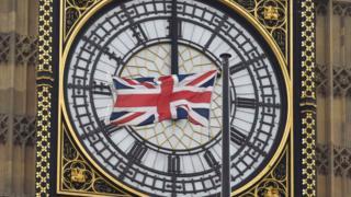 British flag in front of Big Ben