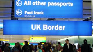 UK Border sign at airport