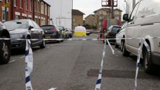 The area was cordoned off