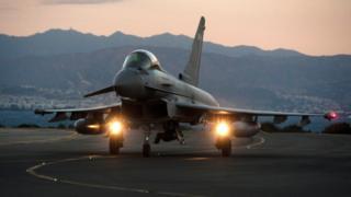 Британский самолет сирийской коалиции