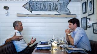 Obama and Trudeau dine at Liverpool House