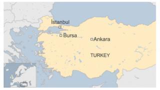 Turkey Bursa map