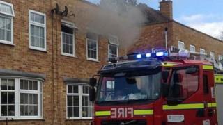 Fire in Miller Close in Goring