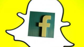 Facebook and Snapchat logos