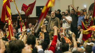 Захват парламента Македонии