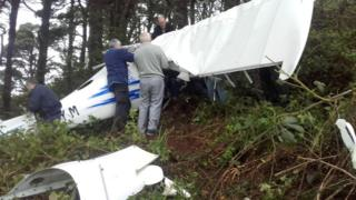 Castlewellan light aircraft crash