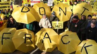 Fracking protests at Lancashire County Council