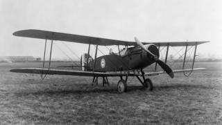 Bristol F2B Fighter at Filton around 1918
