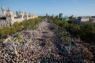 Марш в Барселоне