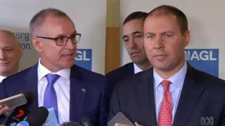 Jay Weatherill criticises Josh Frydenberg at a press conference in Adelaide