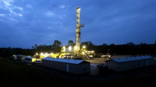 BHP oil and shale gas rig in Fayetteville, Arkansas