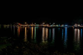 My name is lain Galbraith, l spent last Saturday night in Mallaig. Loved the light reflections across the water