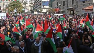Protes warga Palestina