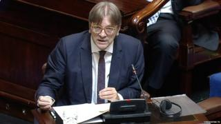 Guy Verhofstadt in the Irish Parliament