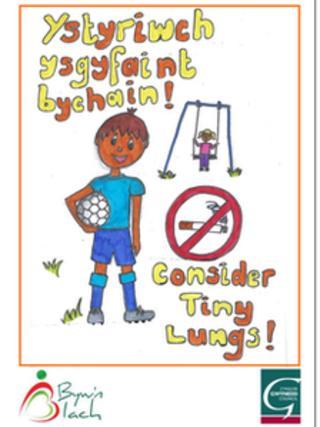 Gwynedd no smoking poster