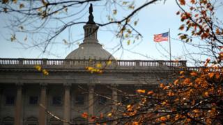 美国国会大厦。
