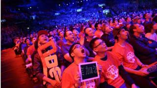 Many LoL tournaments are played in front of large crowds in big sports arenas