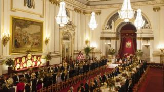State banquet at Buckingham Palace in London