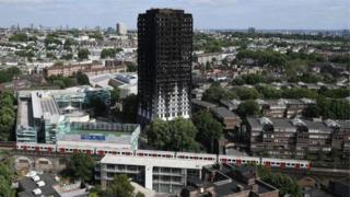 Burnt-out Grenfell Tower