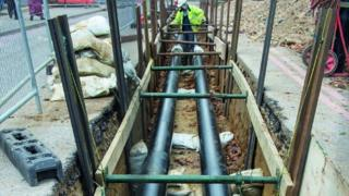 Oxford hospital pipework