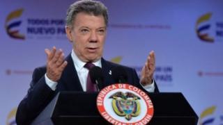 کولمبیا کے صدر یوان مینوئل سینٹوس